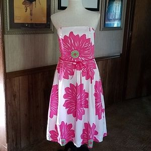 Lilly Pulitzer Strapless Dress size 8